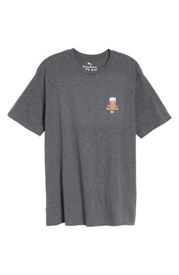 Big & Tall Tommy Bahama Room With A Brew T-Shirt, Grey