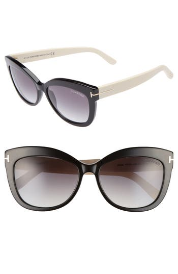 Tom Ford Alistair 5m Gradient Sunglasses - Black/ Gradient Smoke