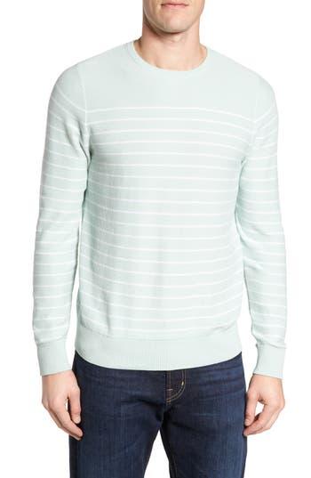 Men's Nordstrom Men's Shop Stripe Cotton Sweater, Size Small - Blue/green