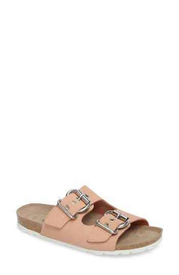 Topshop Finch Buckle Slide - Pink