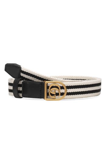 GG LOGO WEB STRIPE BELT
