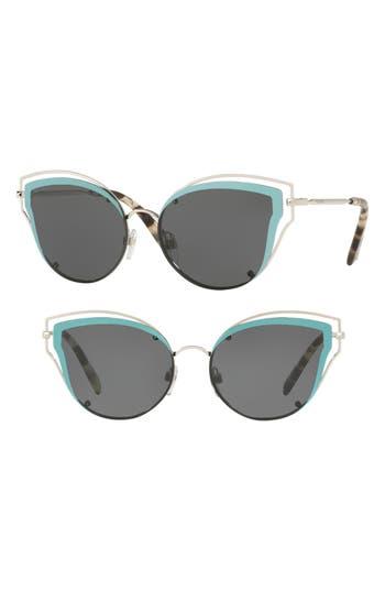 Women's Valentino 58Mm Layered Frame Aviator Sunglasses - Tortoise Orange