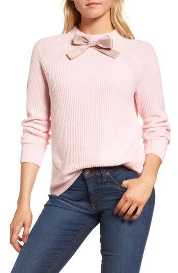 Women's J.crew Gayle Tie Neck Sweater, Size XX-Small - Pink