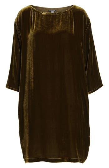 Eileen Fisher Velvet Shift Dress, Green