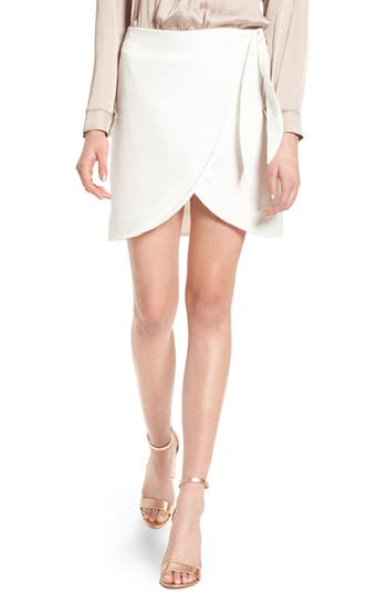 4Si3Nna Wrap Skirt, White