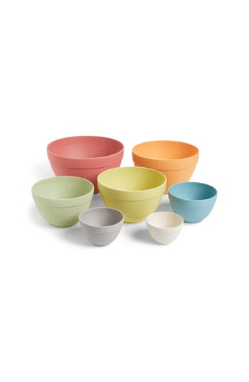 Moma Design Store Set Of 7 Pastel Nesting Bowls, Size One Size - None