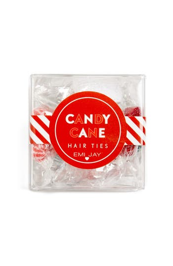 Emi-Jay Candy Cane Set Of 12 Hair Ties, Size One Size - None