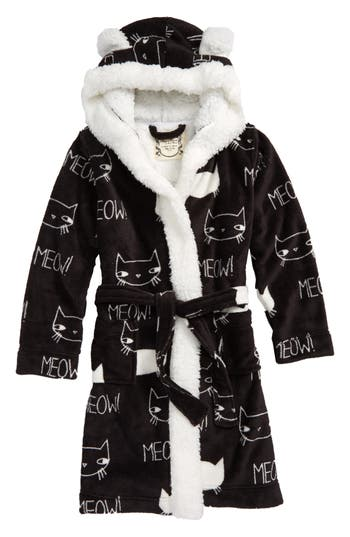 Girls Aegean Kitty Print Robe