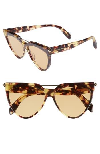 Alexander Mcqueen 5m Cat Eye Sunglasses - Avana