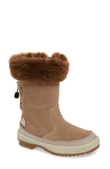 Pajar Kady Waterproof Insulated Winter Boot With Plush Cuff, Beige