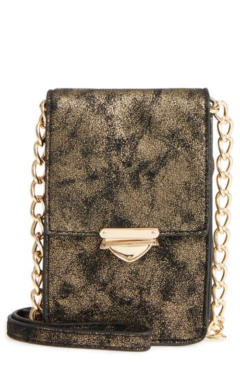 Bp. Metallic Phone Crossbody Bag - Metallic