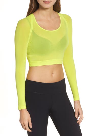 Spanx Arm Tights Crop Top, Yellow