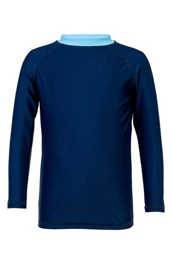 Boys Snapper Rock Raglan Long Sleeve Rashguard Size 8  Blue