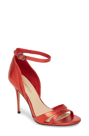 Women's Imagine By Vince Camuto Sherline Ankle Strap Sandal, Size 5 M - Red