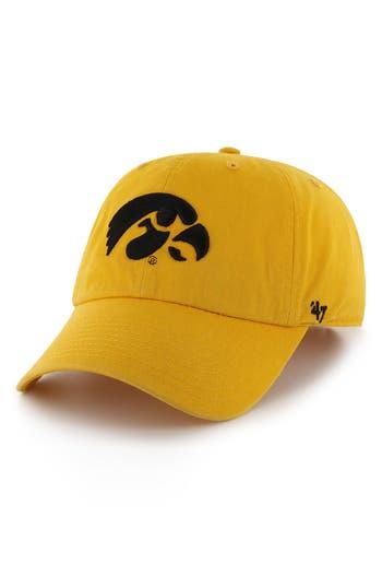 Men's 47 Brand Collegiate Clean Up Cap - Yellow