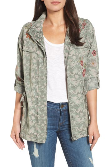 EMBROIDERED CAMO JACKET