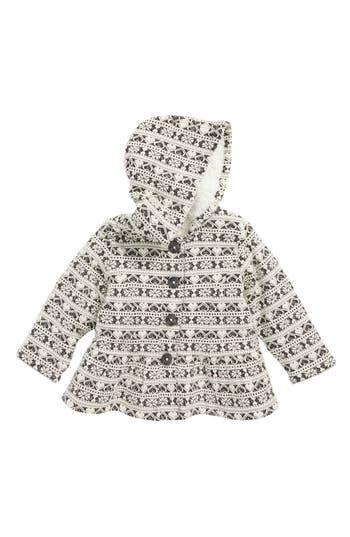 Infant Girls Tucker  Tate Hooded Peplum Jacket With Plush Lining