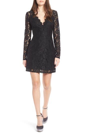 Wayf Say It Out Loud Lace Dress, Black