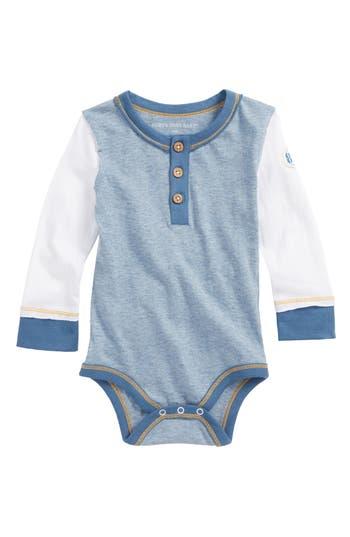 Infant Boys Burts Bees Baby Henley Bodysuit