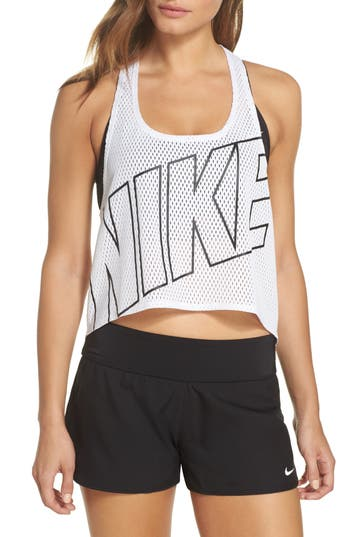 Nike Mesh Crop Top Cover-Up, White