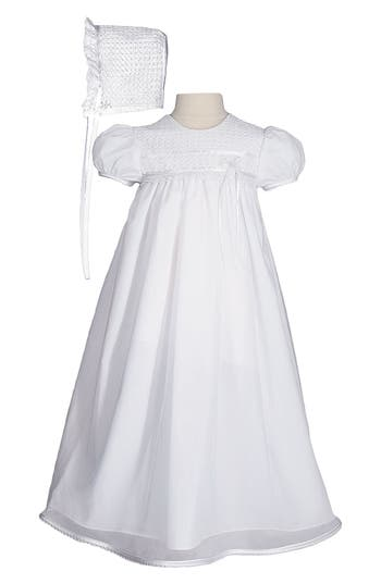 Infant Girls Little Things Mean A Lot Christening Gown  Hat Set