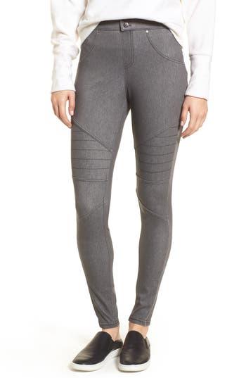 Hue Moto Leggings, Grey
