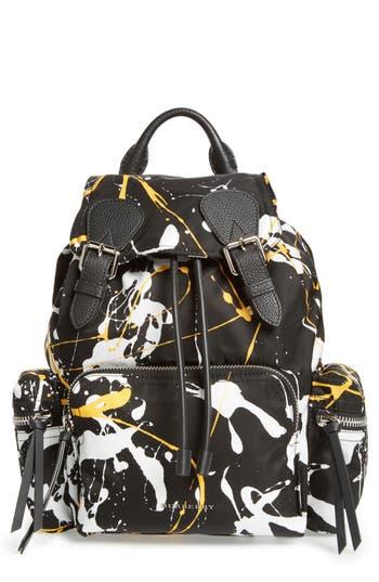 Burberry Medium Rucksack Splash Print Nylon Backpack - Black at NORDSTROM.com