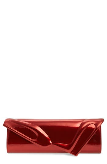 Christian Louboutin So Kate Metallic Leather Clutch - at NORDSTROM.com
