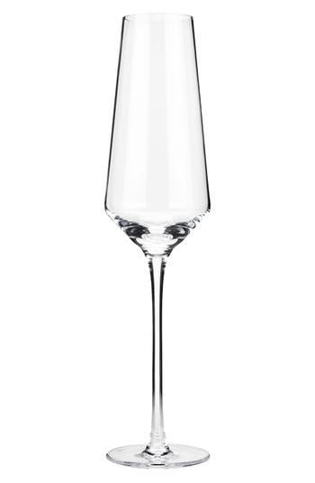 Viski Raye Set Of 2 Crystal Champagne Flutes, Size One Size - White