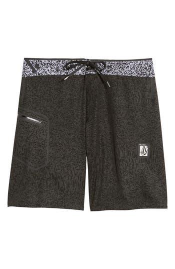 Volcom Plasm Plus Mod Board Shorts, Black