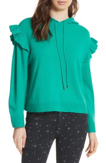Women's Joie Pammeli Wool & Cashmere Hoodie Sweater, Size XX-Small - Green