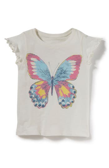 Girls Peek Butterfly Tee