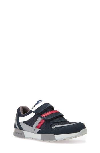 Boys Geox Alfier Stripe Low Top Sneaker Size 6US  39EU  Blue