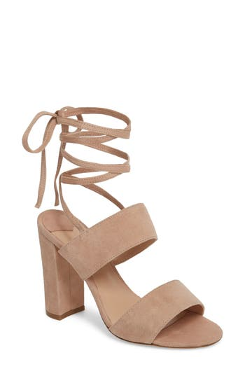 Tony Bianco Kiko Ankle Tie Sandal, Pink