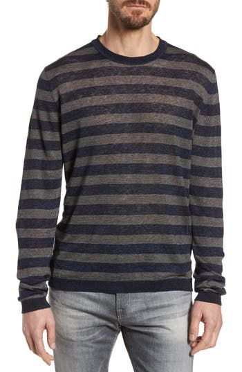 Woolrich John Rich & Bros. Stripe Linen Sweater, Blue
