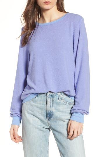 Women's Wildfox 'Baggy Beach Jumper' Pullover, Size Small - Blue