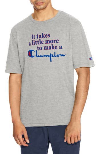 Champion Takes A Little More Heritage Graphic T-Shirt, Grey