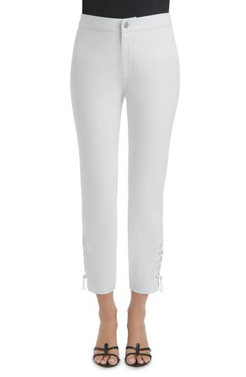 Lysse Lace-Up Ankle Leggings, White
