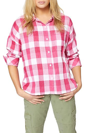 Women's Sanctuary The Steady Boyfriend Shirt, Size X-Small - Pink