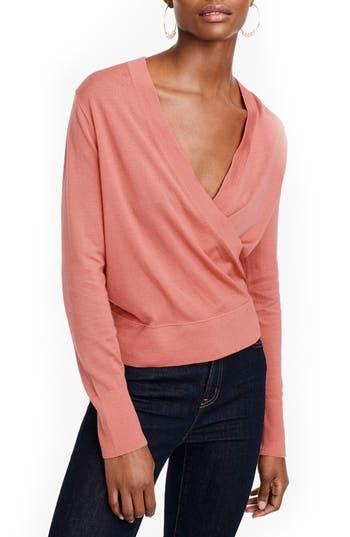 J.crew Merino Wrap Sweater, Pink