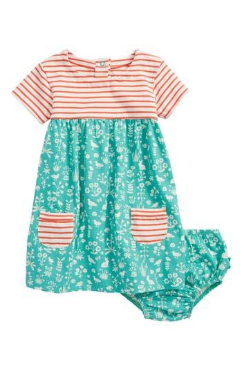 Toddler Girl's Mini Boden Hotchpotch Jersey Dress, Size 0-3M - Green