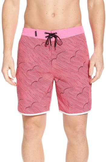 Hurley Phantom Thalia Street Board Shorts, Red