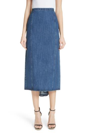 Michael Kors Fishtail Denim Skirt