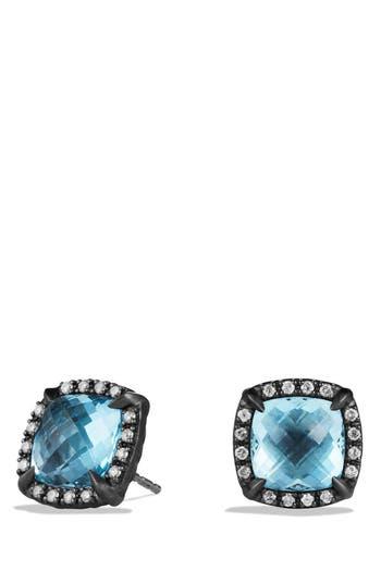 Women's David Yurman 'Châtelaine' Earrings With Semiprecious Stone And Diamonds