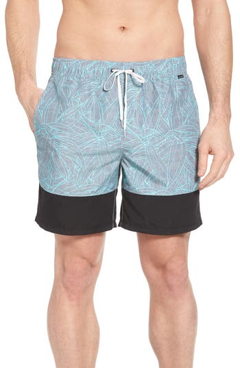 Hurley Pupkea Volley Board Shorts, Grey