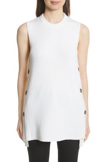 Grey Jason Wu Merino Wool Sleeveless Sweater, White