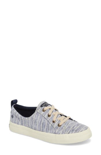Sperry Crest Vibe Painterly Stripe Sneaker, Blue