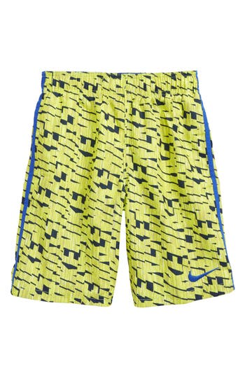 Boy's Nike Diverge Volley Shorts, Size S (8) - Yellow