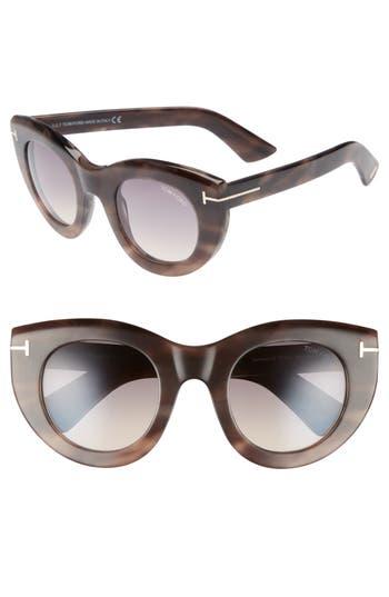Tom Ford Marcella 4m Cat Eye Sunglasses - Rose Havana/ Smoke
