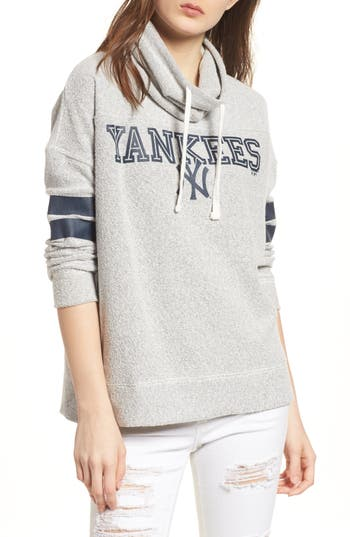 47 female womens 47 encore offsides new york yankees funnel neck sweatshirt size small grey